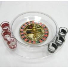 10T Настольная игра Рулетка с 6 стеклянными рюмками белого цвета
