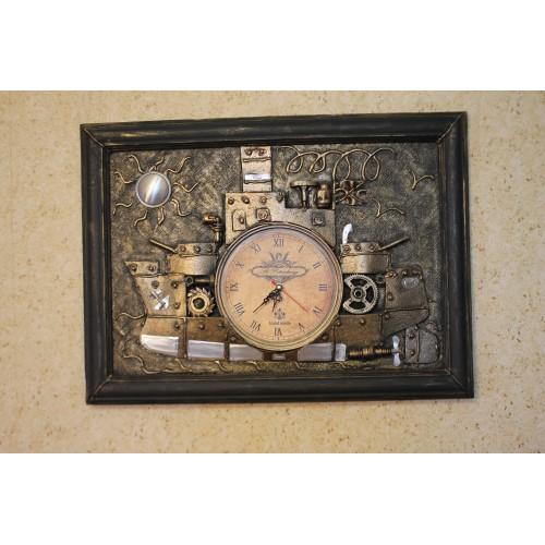 Часы в стиле стимпанк Корабль