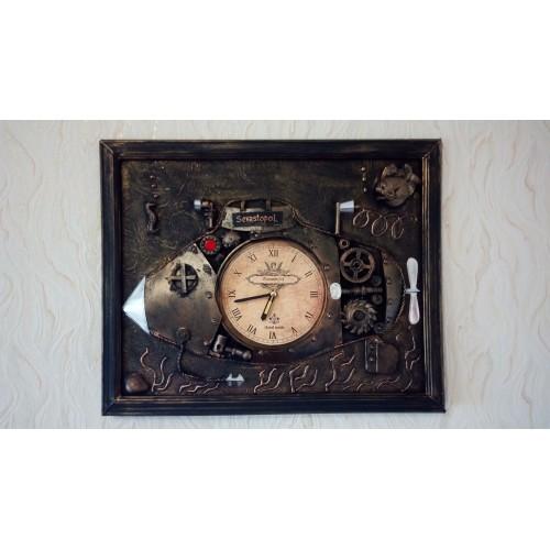 Подводная лодка Стимпанк часы