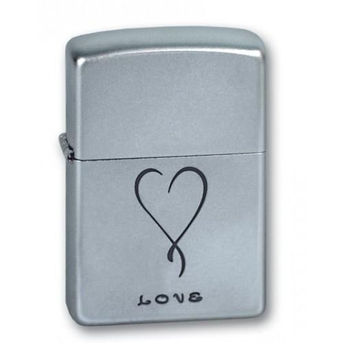 Зажигалка Zippo 205 Satin Chrome Love
