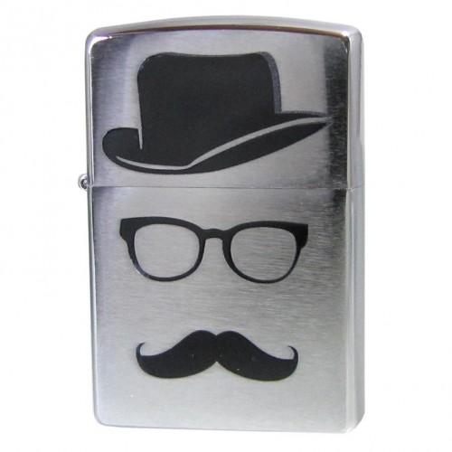 Зажигалка Zippo 28648 Moustache & Hat