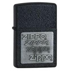 Zippo 363 Pewter Emblem Black Crackle