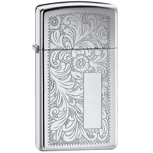 Зажигалка Zippo 1652 Slim Venetian High Polish Chrome