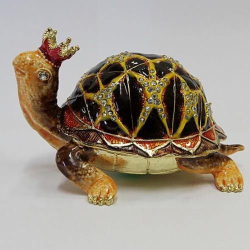 Сувенир шкатулка 945 Черепаха с короной