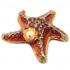 Шкатулка со стразам Морская звезда 764BP