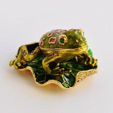 Шкатулка со стразами Н-23-3056 жаба