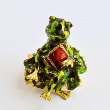 Шкатулка Сваровски Н-23-3259-2 жаба с ромбом на груди