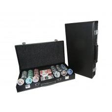Набор для игры в покер в кожаном кейсе (300 фишек)