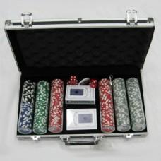 Набор для игры в покер в алюминиевом кейсе (300 фишек)