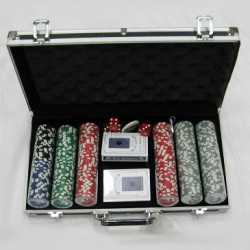 Набор для покера в алюминиевом кейсе - 300 фишек