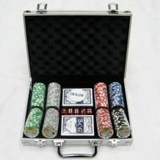 Набор для игры в покер в алюминиевом кейсе (200 фишек)