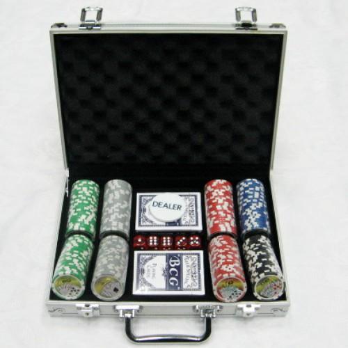 Набор для покера в алюминиевом кейсе - 200 фишек