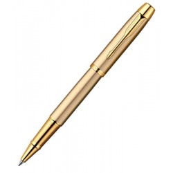 Ручка-роллер Parker IM Brushed Metal Gold GT RB R0811700