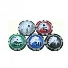 Фишки для покера в ассортименте