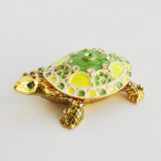 Шкатулка со стразами Н-23-3049 черепаха