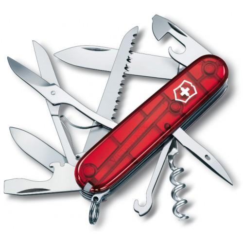 1.3713.Т Нож Victorinox Huntsman полупрозрачный красный