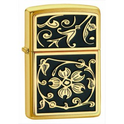 Zippo 20903 Gold Floral