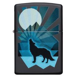 Zippo 29864 Wolf and Moon Design