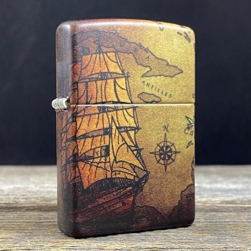 Zippo 49355 Pirate Ship Design 540 Color