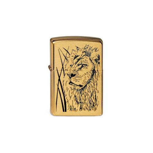 Зажигалка Zippo 204B со львом